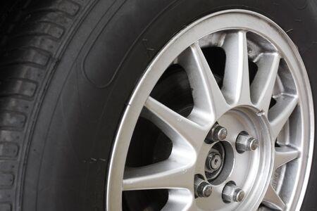 discard: Car wheel - Close up Stock Photo
