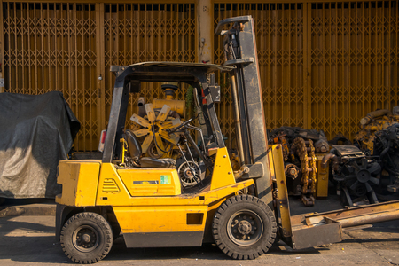 Forklift truck on market autoparts.