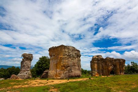 The Landscape , The stonehenge mohinkhao in chaiyaphum , Thailand Imagens - 124678224
