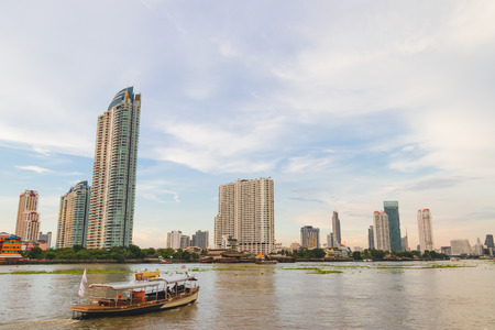 The view landscape at chao phraya river.