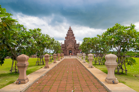Buriram Thailand 22 Aug 2018 : Prasat Muang Tam historical park at Buriram Castle Thailand. Editorial