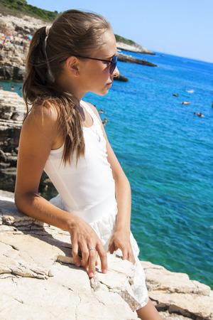 girl on the beach photo