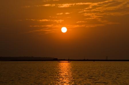 chilika: Sunset in Chilika, India