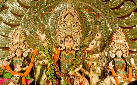 Durga Puja Festival in Kolkata Bengal, India  Editorial