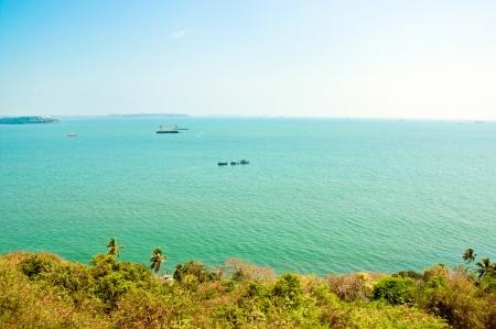 aguada: Ocean view from Fort Aguada, Goa, India