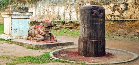 ling: Shiv Ling  a representation of Lord Shiva  in Srikurmam Temple, Srikakulam, AP, India
