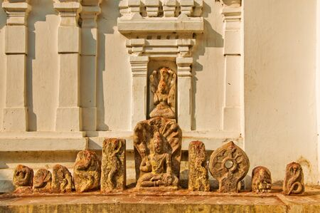 ling: Statues fo Gods Shiv Ling  a representation of Lord Shiva  in Srikurmam Temple, Srikakulam, AP, India