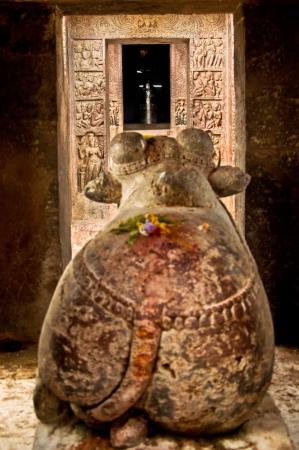 shivling: Nandi  Cow  in Srikurmam Temple, Srikakulam, AP, India Stock Photo
