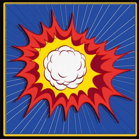 comic book explosion art Vector