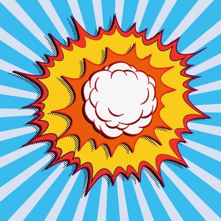 comic book explosion art Illusztráció