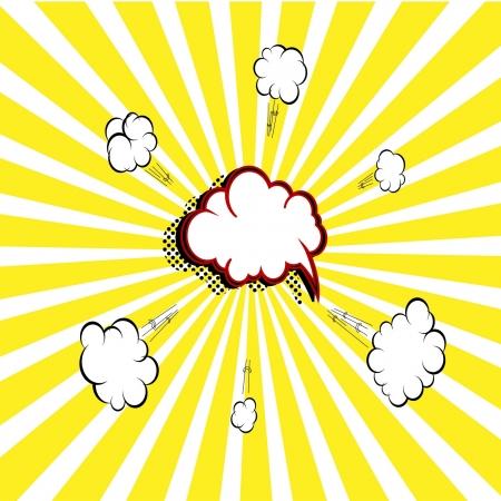 stripboek bubble Vector Illustratie