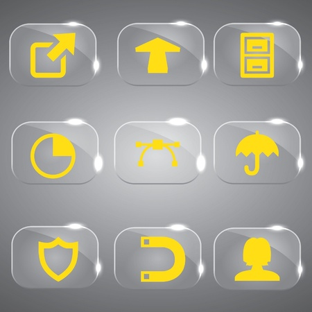 3d icons: 3d icons 3d icons set icon glass icons vector icon set icons icon collection
