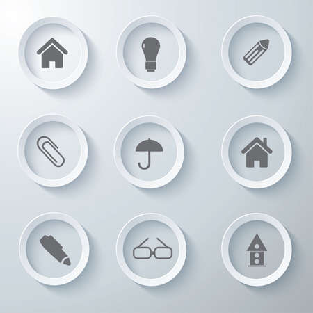 3d icons 3d icons set icon glass icons vector icon set icons icon collection Vector