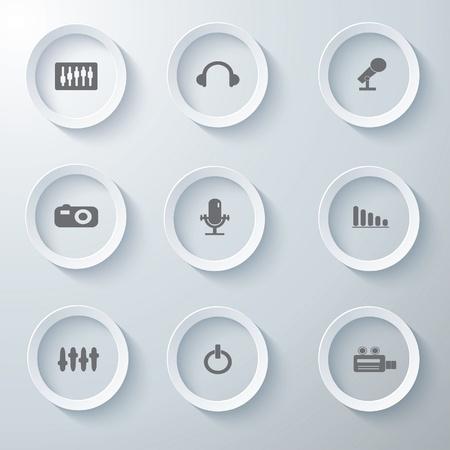 Iconos 3d iconos 3d fijaron icono vidrio iconos conjunto de iconos vectoriales iconos colección de iconos