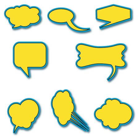 Speech bubbles vector  Vector