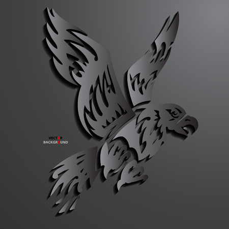 Eagle Abstract 3D Design Background in illustrations Black Vector