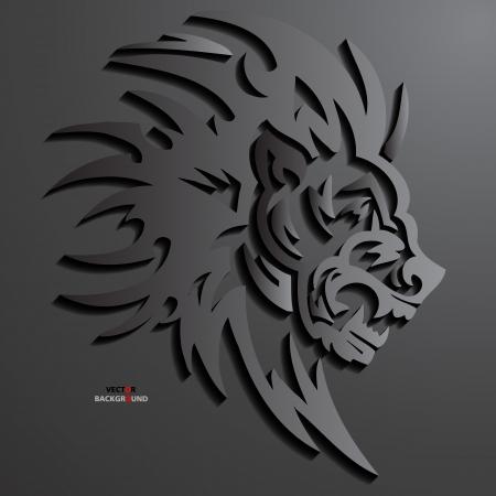 3d lion: Lion Abstract 3D Design Background illustrations Black Illustration