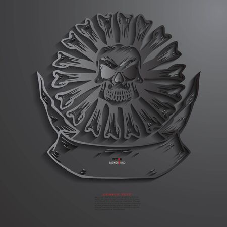 Skull Background Abstract 3D Design illustrations Black Vector