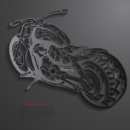 Motorbike Background Abstract 3D Design  illustrations Black Vector