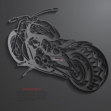 Motorbike Background Abstract 3D Design  illustrations Black Vector