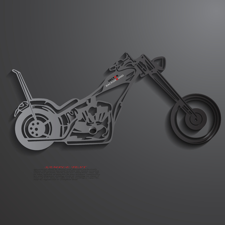Motorcycle Background Abstract 3D Design illustrations Black Vector