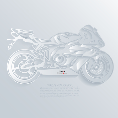 Motorbike Background Abstract 3D Design illustrations White Vector