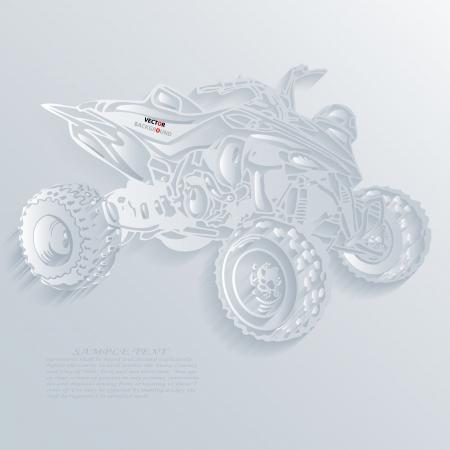 atv: Atv Background Abstract 3D Design illustrations White Illustration