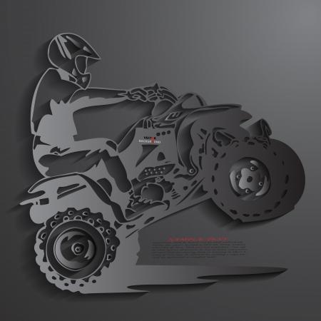 Atv Achtergrond Abstract 3D Design Vector illustraties Black
