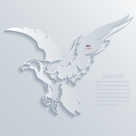 Eagle Background Abstract 3D Design illustrations White Vector