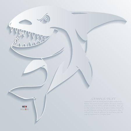 Shark Abstract 3D Design Background illustrations White Vector