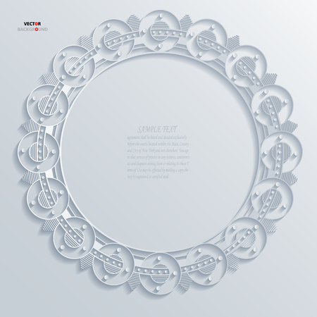 Borders Element Abstract 3D Design Background illustrations White Vector