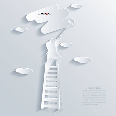 man abstract: Man Abstract 3D Design Background illustrations White