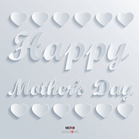 mather: Happy Mather Day Background Abstract 3D Design illustrations White