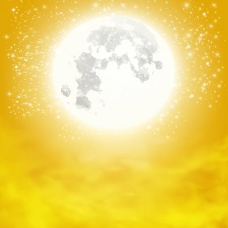 volle maan: Mooie volle maan vector illustratie Stock Illustratie