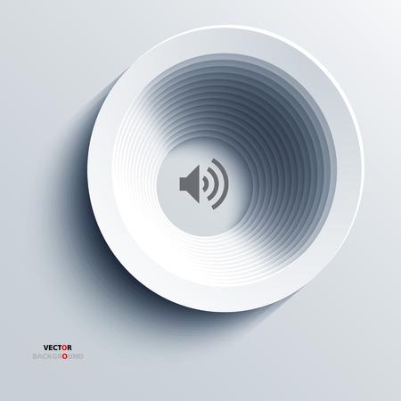 speaker icon: Background Abstract 3D Design speaker icon vector
