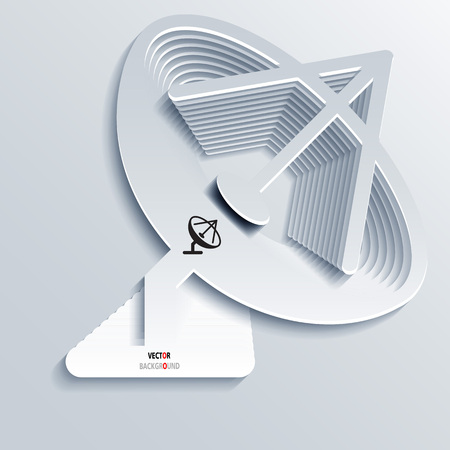 sattelite: Icon Background Abstract 3D Design of Satellite dish vector