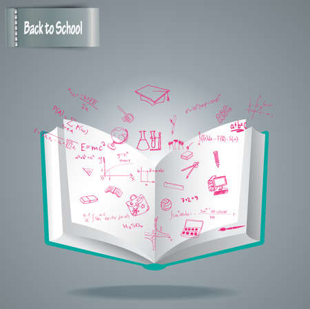 Welcome Back To School Drawing Vector illustration Vector