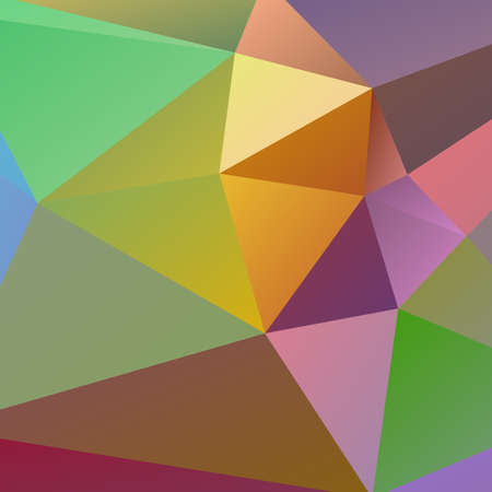Polygon 3d Abstract background colorful vector illustration Vector