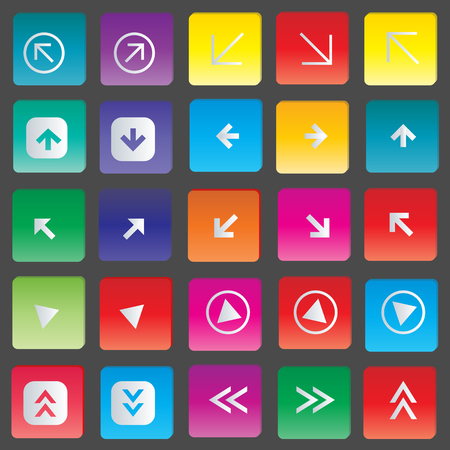 Arrow Icons set vector illustration Vector