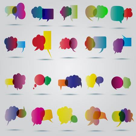 Speech bubble vector Vector