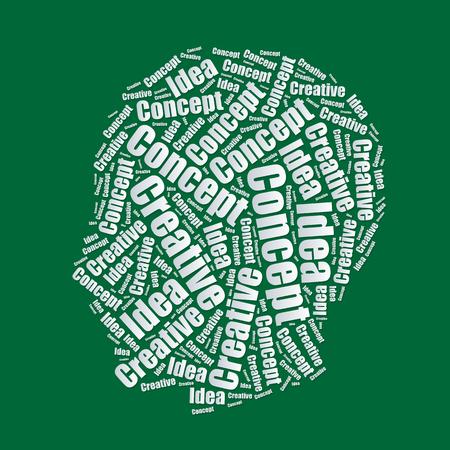 word art: Head Idea Word cloud typography text word art