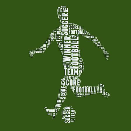 word art: F�tbol Word cloud tipograf�a de texto word art Vectores
