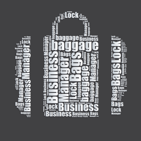word art: Bags Word cloud typography text word art Illustration