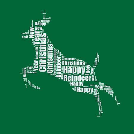 word art: Reindeer Word cloud typography text word art  Illustration