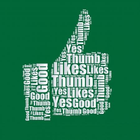 word art: Like Word cloud typography text word art  Illustration