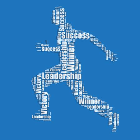 word art: Running man Word cloud typography text word art  Illustration