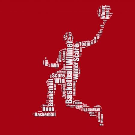 word art: Palabra de baloncesto nube tipograf�a de texto word art