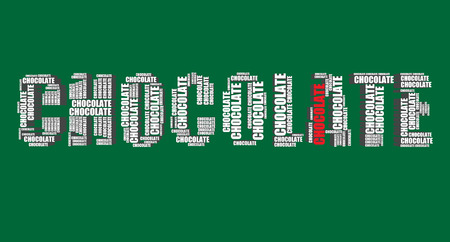 word art: chocolate typography 3d text word art Illustration