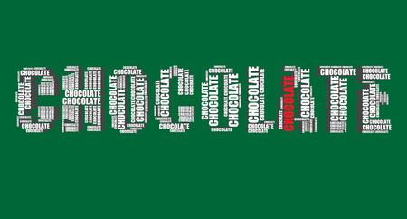 word art: tipograf�a 3d texto de la palabra arte del chocolate