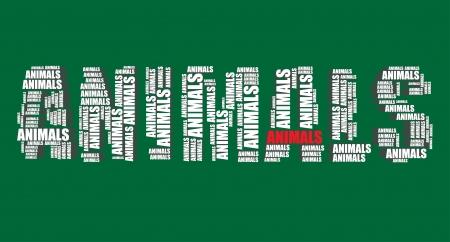 word art: animales de la tipograf�a 3d texto de la palabra arte vectorial animales nube de palabras